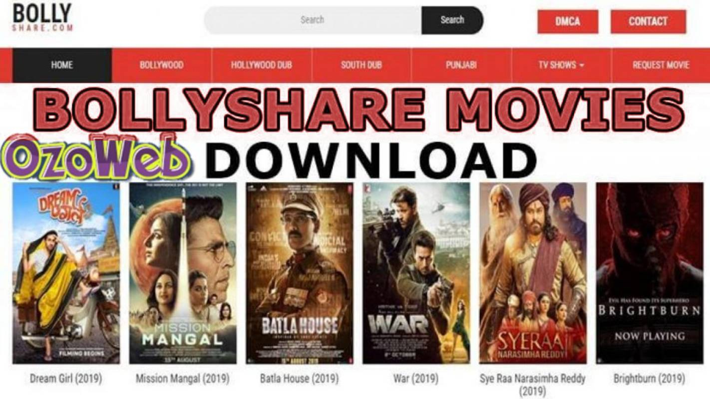 Bollyshare 2021 - Website for illegal download of HD movies